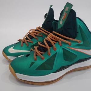 """Lebron X """"Miami"""" shoe"""